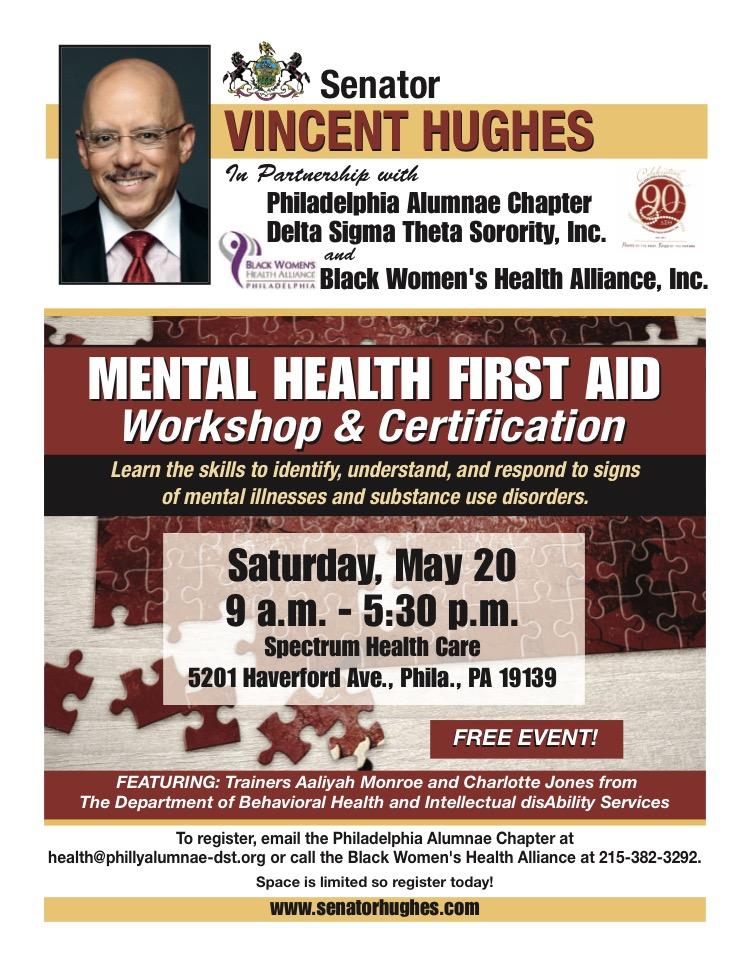 Mental Health First Aid Workshop & Certification – Philadelphia ...