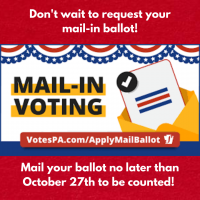 Don't wait to request your mail-in ballot!